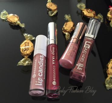nega ustnic + Lip Gloss Essence in L'Oréal
