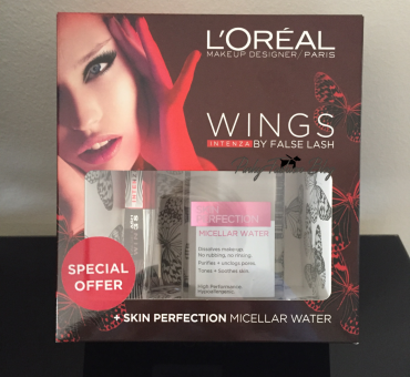 maskara L'Oreal False Lash Wings Intenza + Micelarna voda L'Oréal Paris Skin Perfection
