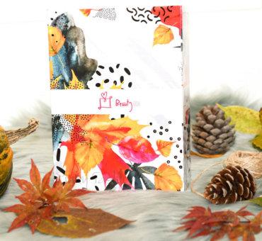Oktober • Beauty box ujet v jesenske barve